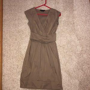 BCBG MAXAZRIA Brown business dress